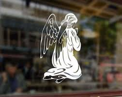 Guardian Angel Decal Etsy
