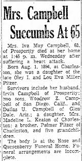 Iva May Pitzer obit - Newspapers.com