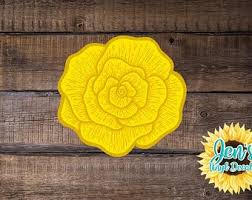 Yellow Rose Decal Etsy