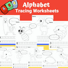 alphabet tracing worksheets arty