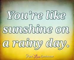 you re like sunshine on a rainy day purelovequotes