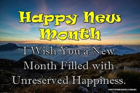 inspirational happy new month status love text