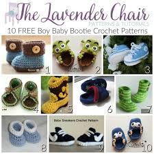 baby bootie crochet patterns for boys