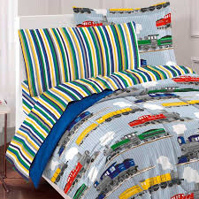blue train bedding for boys twin or