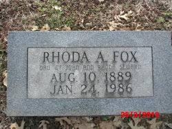 Rhoda A. Seward Fox (1889-1986) - Find A Grave Memorial