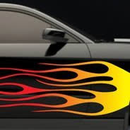 Flames Car Decals Dezign With A Z
