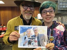 Adam Savage with my daughter in our annual metaphoto (7 years in ...
