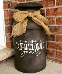 Personalized Family Name Decal For Milk Can Front Door Or Etsy