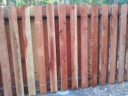 Staggered Dog Ear Redwood Fence Ajm Construction Services