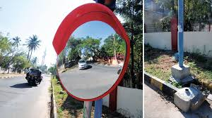 convex mirrors to prevent blind spot