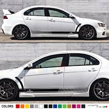 Decal Sticker Stripe Kit For Mitsubishi Lancer Evolution Evo 10 X Spoiler Lip Wish