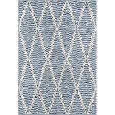 beacon denim diamond pattern woven rug