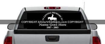 In Loving Memory Of Cowgirl Memorial Car Stickers Window Decals
