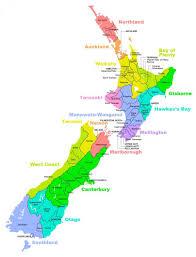 Nuova zelanda regioni sulla mappa - Nuova zelanda distretto mappa ...