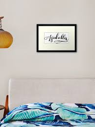 Isabella Name Framed Art Print By Projectx23 Redbubble
