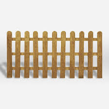 3ft X 6ft Pressure Treated Round Top Picket Fence Panel Mercia Garden Products