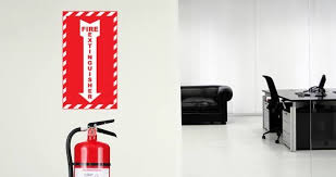 Fire Extinguisher Here Wall Decal Dezign With A Z