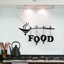 Wall Decal Food Word Lettering Sign Wall Stickers Spoon Kitchen Restaurant Cafe Stylish Mural Vinyl Removable Design Circle Wall Decals Circle Wall Stickers From Onlinegame 11 85 Dhgate Com