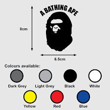 A Bathing Ape Logo Premium Vinyl Sticker Decal Bape Design Craft Art Prints On Carousell