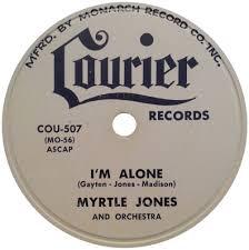 78 RPM - Myrtle Jones - I'm Goin' Home / I'm Alone - Courier - USA ...