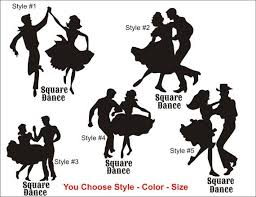 Square Dance Decal Sticker Modern Traditional Square Dancing Cowgirl Cowboy Decal Country Girl Boy Western Vinyl Stic Square Dancing Vinyl Sticker Wall Decals