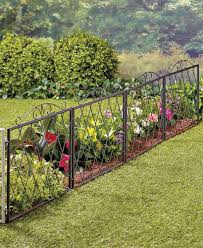 Scrolled Metal Garden Fence Metal Garden Fencing Garden Fencing Backyard Fences