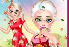 elsa spring makeup frozen games