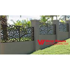 Villa Garden Decorative Laser Cut Aluminum Fence Panels