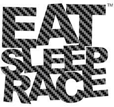 Logo Vinyl Decal Carbon Fiber Eat Sleep Race Racing Lifestyle Apparel
