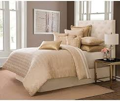 hnu 10 piece gold comforter set king
