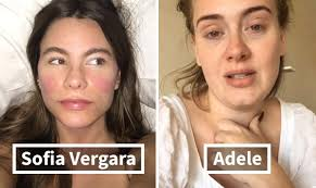 images of celebrities without makeup