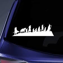 Amazon Com Bargain Max Decals Lotr Caravan Fellowship Sticker Decal Notebook Car Laptop 8 White Arts Crafts Sewing