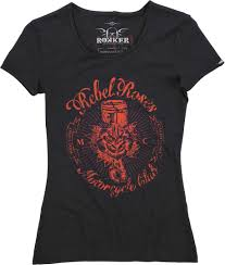 rokker rebel roses cal clothing t
