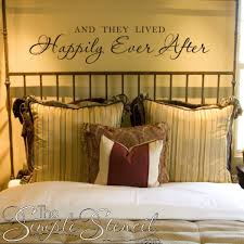 Romantic Wall Lettering Quotes Decals For Master Bedroom Happily Ever After