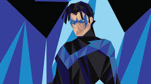 nightwing low poly art hd superheroes