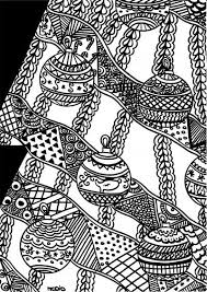 Free Adult Doodle Coloring Printable Christmas Vector Download