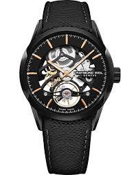 rw1212 black skeleton automatic watch
