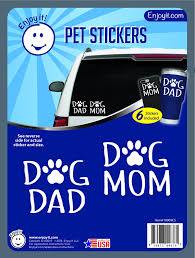 Amazon Com Enjoy It Dog Mom And Dog Dad With Paw Car Stickers 6 Pieces Toys Games