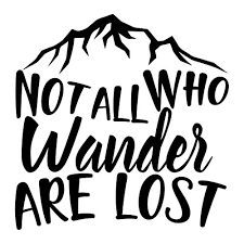 Not All Who Wander Are Lost Vinyl Decal Buy Online In Albania At Desertcart
