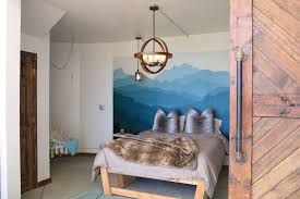 Mountain Mural Wall Decal In Mega Dome Asheville Glamping Glamping Mountain Mural