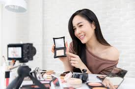asian woman professional beauty vlogger