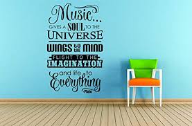Music Music Gives A Soul 10 X20 Vinyl Wall Decal Amazon Ca Home Kitchen