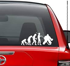 Amazon Com Theory Of Evolution Ice Hockey Goalie Vinyl Decal Sticker Car Truck Vehicle Bumper Window Wall Decor Helmet Motorcycle And More Size 5 Inch 13 Cm Wide Color Gloss