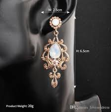 shining crystal pearl earring gold