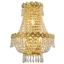 empire 12 in gold crystal wall sconce