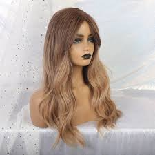 36 Off Tanie Tiny Lana Damskie Ombre Brazowe Peruki Blond Dlugie