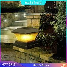 Solar Power Led Pillar Lamp Outdoor Garden Fence Lamp Yard Post Cap Lights Waterproof Led Solar Shopee Philippines