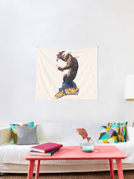 King Kong Retro Tapestry By Idaspark Redbubble