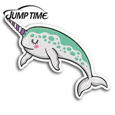 Jump Time Cute Narwhal Whale Vinyl Stickers Sticker Laptop Luggage Gift Car Assessoires Window Decals Car Wrap Diy Car Stickers Aliexpress