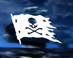 Jolly Roger Decal Etsy
